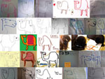how to draw camels collage